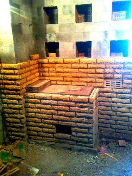 Как сделать отопительную печь  в селе